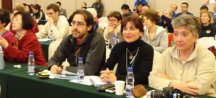 Javier Arnanz, director del Instituto Movimiento y Salud de Madrid, Neus Palerm Instructora de Qigong en Ibiza y  Núria Leonelli, profesora de Qigong del Instituto Qigong Barcelona.