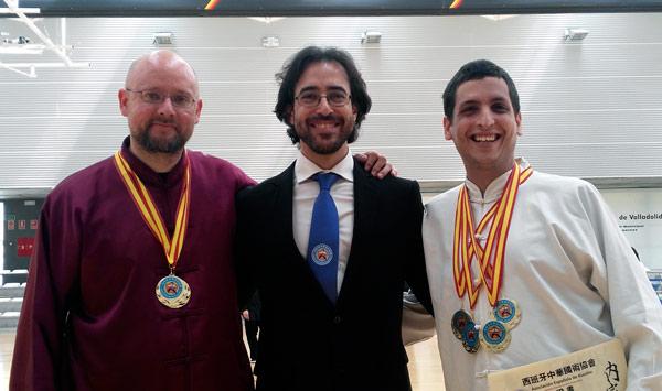 De izda. a dcha. Gabriel Aranegui, Javier Arnanz y Santiago Arnanz